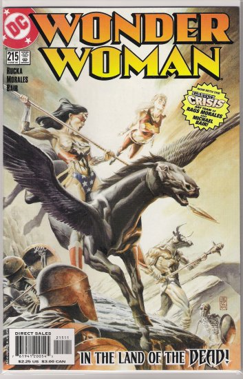 WONDER WOMAN #215 (2005) RAGS MORALES-NEVER READ!