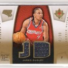 2007-08 UPPER DECK JARED DUDLEY BOBCATS ULTIMATE ROOKIE MATERIALS CARD #'D 41/99!