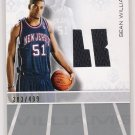 2007-08 TOPPS LUXURY BOX SEAN WILLIAMS NETS ROOKIE RELIC JERSEY CARD