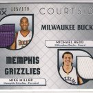 2007-08 TOPPS LUXURY BOX COURTSIDE MICHAEL REDD/MIKE MILLER DUAL RELIC CARD #'D135/179!
