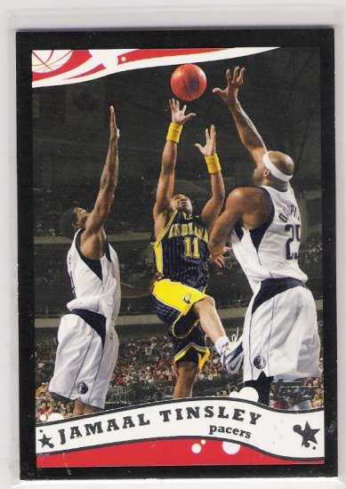 2005-06 TOPPS JAMAAL TINSLEY PACERS BLACK CARD