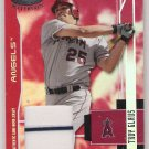 2003 LEAF CERTIFED TROY GLAUS ANGELS MIRROR RED GAME-WORN JERSEY CARD #'D 183/250!