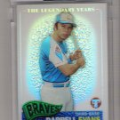 2005 TOPPS PRISTINE THE LEGENDARY YEARS DARRELL EVANS BRAVES UNCIRCULATED REFRACTOR CARD