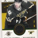 2001-02 PRIVATE STOCK GAME USED GEAR DARRYL SYDOR  STARS JERSEY CARD