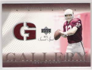 2002 UPPER DECK SWEET SPOT JOSH MCCOWN CARDINALS ROOKIE JERSEY CARD