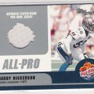 2000 TOPPS STARS HARDY NICKERSON BUCCANEERS PRO BOWL JERSEY CARD
