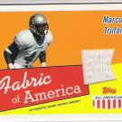 2003 TOPPS ALL AMERICAN MARCUS TRUFANT FABRIC OF AMERICA GAME-WORN JERSEY CARD