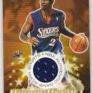 2003 BOWMAN LARRY HUGHES WIZARDS ROOKIE RECALL AUTHENTIC GAME WORN SHORTS CARD