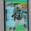 2005 BOWMAN CHROME TRAVIS DANIELS DOLPHINS UNCIRCULATED GREEN REFRACTOR CARD