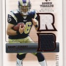2007 SP ROOKIE THREADS BRIAN LEANARD RAMS DUAL JERSEY CARD