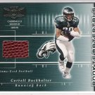 2002 PLAYOFF PREFERRED CORRELL BUCKHALTER EAGLES GAME USED FOOTBALL CARD