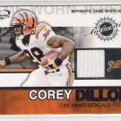 2002 PACIFIC ATOMIC COREY DILLON BENGALS GAME-WORN JERSEY CARD