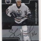 2001-02 BAP SHAWN HORCOFF OILERS SIGNATURE SERIES AUTOGRPAHED CARD