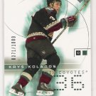 2001-02 UD CHALLENGE FOR THE CUP KRYS KOLANOS COYOTES ROOKIE CARD
