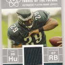 2007 BOWMAN TONY HUNT EAGLES FABRIC OF THE FUTURE JERSEY CARD