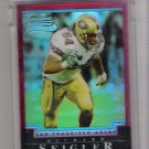 2004 BOWMAN CHROME RICHARD SEIGLER 49ERS UNCIRCULATED ROOKIE REFRACTOR CARD