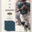 2001 UD PROS & PROSPECTS MARK BRUNELL JAGUARS JERSEY CARD
