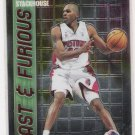 2001-02 TOPPS CHROME FAST & FURIOUS JERRY STACKHOUSE INSERT CARD