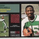 2001 FLEER TRADITION FREDDIE MITCHELL EAGLES ROOKIE RETRO THREADS USED FOOTBALL CARD