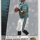 2006 UPPER DECK BYRON LEFTWICH GAME DATED ROOKIE DEBUT CARD