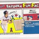 2005 TOPPS BAZOOKA WALLY JOYNER ANGELS FUN FACTS BAT CARD