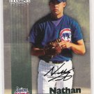 1999 TEAM BEST NATHAN TEUT CUBS AUTOGRAPHED CARD