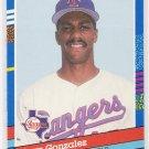 1991 DONRUSS JUAN GONZALEZ RANGERS CARD
