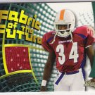 2002 BOWMAN TRAVIS STEPHENS BUCCANEERS FABRIC OF THE FUTURE JERSEY CARD