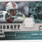 2005 UPPER DECK JASON TAYLOR DOLPHINS KICKOFF JERSEY CARD