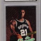 1997 FLEER ULTRA TIM DUNCAN SPURS ROOKIE CARD GRADED FGS 10!