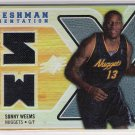 2008-09 SPX SONNY WEEMS NUGGETS FRESHMAN ORIENTATION DUAL JERSEY CARD