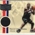 2001-02 FLEER PLATINUM HAREEF ABDUR-RAHIM HAWKS NATIONAL PATCH TIME JERSEY CARD