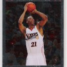 2007-08 TOPPS CHROME THADDEUS YOUNG 76'ERS ROOKIE CARD