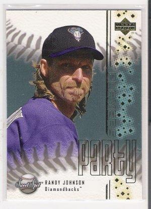 2001 UPPER DECK SWEET SPOT RANDY JOHNSON DIAMONDBACKS PLAYERS PARTY INSERT