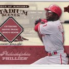 2008 UD PIECE OF HISTORY STADIUM SCENES JIMMY ROLLINS PHILLIES RED #'D 082/149!