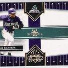 2005 DONRUSS CHAMPIONS REGGIE SANDERS DIAMONDBACKS IMPRESSIONS CARD