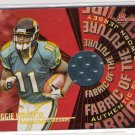 2004 BOWMAN REGGIE WILLIAMS JACKSONVILLE FABRIC OF THE FUTURE JERSEY CARD