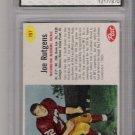 1962 POST JOE RUTGENS REDSKINS CARD GRADED FGS 9!