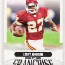2007 SCORE LARRY JOHNSON CHIEFS FRANCHISE INSERT CARD