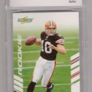 2007 SCORE BRADY QUINN BROWNS ROOKIE CARD GRADED BCCG 10!