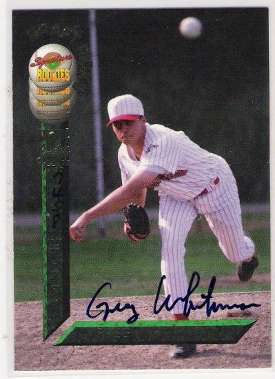 1994 SIGNATURE ROOKIE GREG WHITEMAN SIGNATURE ROOKIE CARD