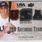2008 UPPER DECK USA BASEBALL JEFF MALM USA JERSEY CARD #'D 066/179!