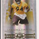 2007 DONRUSS THREADS LAWRENCE TIMMONS STEELERS ROOKIE CARD #'D 472/999