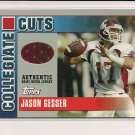 2003 TOPPS DPP JASON GESSER COLLEGIATE CUTS JERSEY CARD