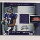2006 PLAYOFF ABSOLUTE DEMETRIUS WILLIAMS RAVENS ROOKIE JERSEY CARD