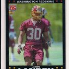 2007 TOPPS CHROME LARON LANDRY REDSKINS ROOKIE REFRACTOR CARD