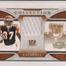 2008 DONRUSS THREADS ANDRE CALDWELL BENGALS ROOKIE JERSEY CARD