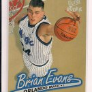 1996-97 FLEER ULTRA BRIAN EVANS MAGIC ROOKIE CARD
