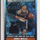 2002-03 TOPPS JERSEY EDITIONA BONZI WELLS TRAILBLAZERS ROAD JERSEY CARD #'D 72/99!