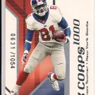 2002 FLEER MAXIMUM AMANI TOOMER GIANTS K CORPSCARD